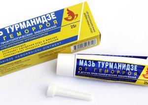 мазь Турманидзе от геморроя с мощным антисептическим, противовоспалительным, обезбаливающим эффектом при геморрое и проктологических заболеваниях