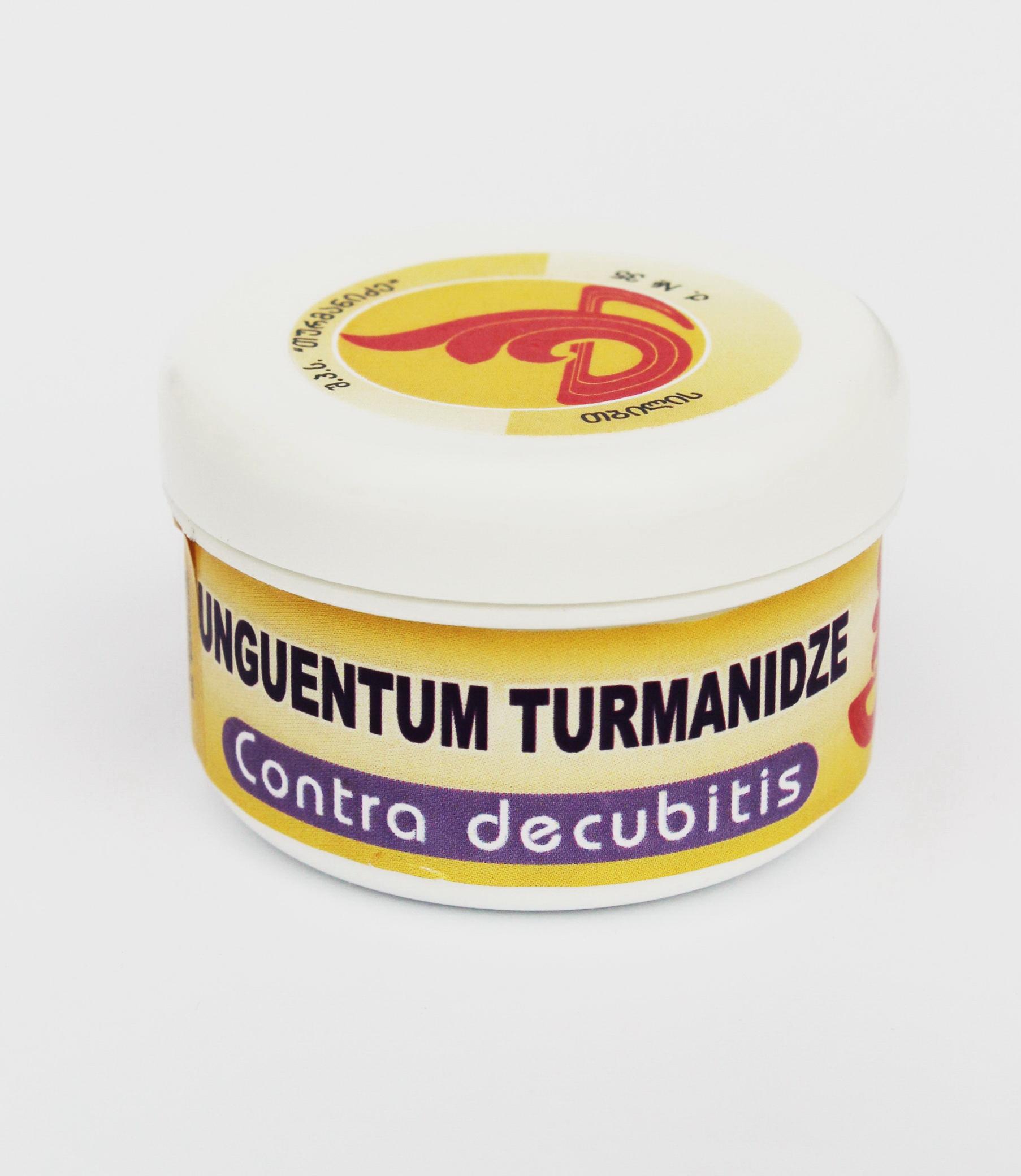 мазь Турманидзе с мощным антисептическим, противоспалительным, обезбаливающим эффектом с применением при пролежнях. Способствует заживлению ран.