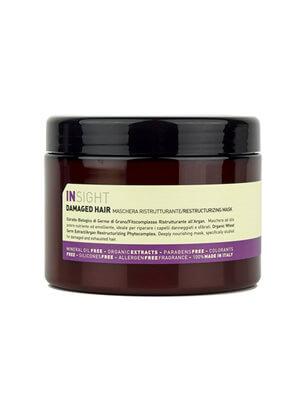 Натуральная маска Insight для востановления поврежденных волос для всех типов волос на натуральных ингридиентах без парабенов и консервантов