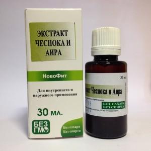 Водный экстракт ( концентрат,без спирта) Чеснок+Аир 30 мл , антибактериальный фитопрепарат