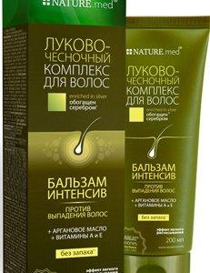 интенсивный бальзам против выпадения на основе флаваноидов чеснока и лука, арганового масла