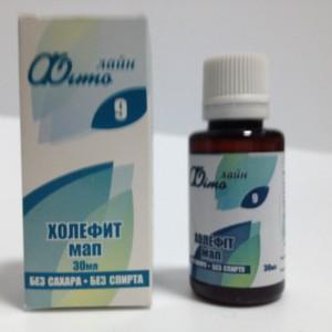 Растительный водный экстракт Холефит МАП для улучшения функции желчного пузыря и желчных протоков, для улучшения пищеварения и усвоения полезных веществ
