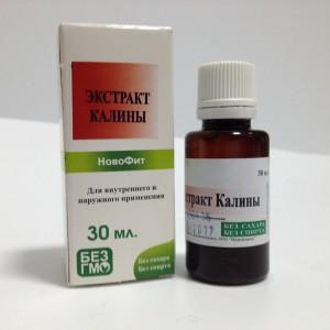 Растительный водный экстракт Калины как противовоспатительное, жаропонижающее, кардиотоническое, вяжущее, кровоостанавливающее средство, при эпилепсии