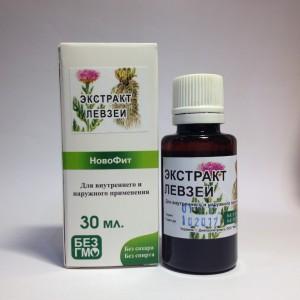 Левзея водный растительный экстракт для применения в фитотерапии в улучшение кровообращения, адаптоген