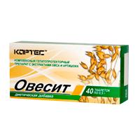 Таблетки Овесит при нарушении процессов желчеобразования и желчевыделения и связанных с ними хронических заболеваниях желудочно-кишечного тракта