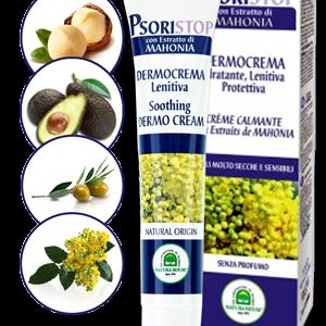 итальянский натуральный крем при псориазе Псористоп Psoristop для уменьшения симптомов псориаза на основе магонии без парабенов и щелочи