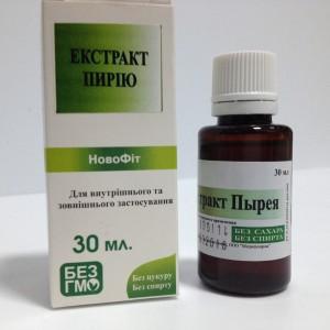 Растительный водный экстракт Пырея при болезнях связанных с нарушением минерального обмена: при мочекаменной и жечекаменной болезнях, остеохондрозе