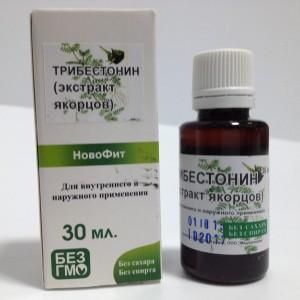 Водный экстракт Трибестонин (якорцы) для лечения сексуальной дисфункции и увеличения полового желания, для стимуляции выработки тестостерона
