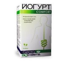 Йогурт-Комфорт (Komfort) на основе лактобактерий и экстракта ревеня для улучшения  функции кишечника, профилактика дисбактериоза, нормализация  обмена веществ