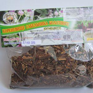 трава Сабельник болотный для фитотерапии болезней суставов, подагры, остеохондроза, уменьшению отечности суставов