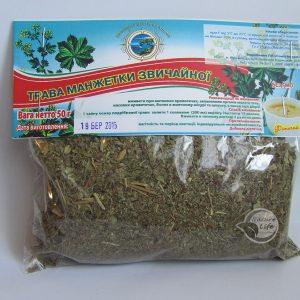 Лекарственная трава Манжетка для профилактики и комплексного лечении атеросклероза, снижения холестерина и повышении лактации