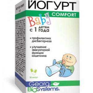 Йогурт Бэби Комфорт , пробиотик с лактобактериями и инжиром для восстановления микрофлоры кишечника и профилактики запоров