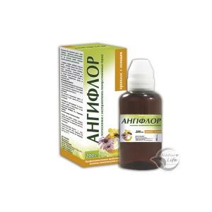 АнгиФлор Полоскание с экстрактами лекарственных трав с Прополис+Эхинацея как средство для ротовой полости и горла, при заболеваниях горла, ангины