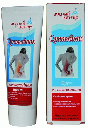 крем для суставов ТМ Мудрый Лечец Суставник с глюкозамином для улучшения кровообращения и подвижности суставов