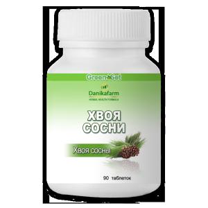Хвоя сосны в растительных таблетках как мощный антиоксидант, для повышения иммунитета и профилактики простудных заболеваний, для укрепления сосудов