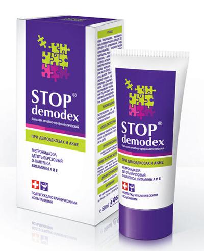 бальзам для лица Стоп-демодекс в уходе за пораженнной кожей клещом железница