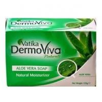 увлажняющее натуральное мыло аюрведа Vatika DermoViva Aloe Vera на основе алоэ индия