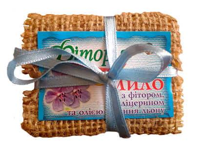 натуральное мыло ручной работы Фитория с маслом конопли на основе фитора (экстракт дуба) с антибактериальным ранозаживляющим эффектом в подарочной упаковке