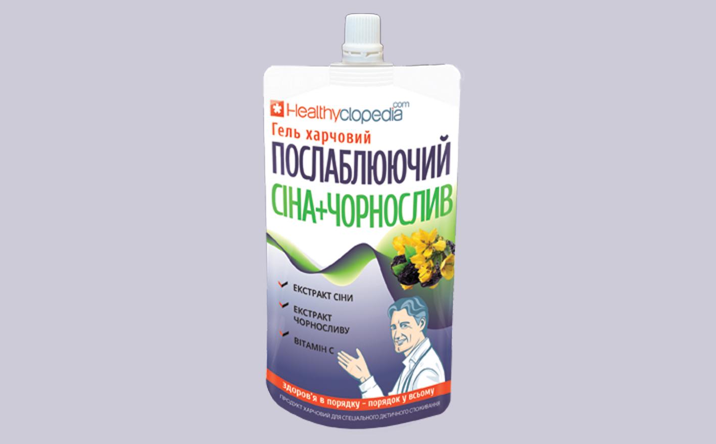 гель пищевой слабительный Сена+Чернослив для улучшения деятельности кишечника и профилактики запоров.