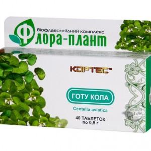Флора-плант Готу Кола для улучшения мозгового кровообращения, улучшения памяти и умственных способностей, при психических заболеваниях, шизофрении