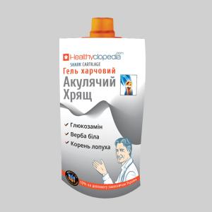 Гель Акулий хрящ - комплекс глюкозамина с растительными экстрактами белой вербы, лопуха для облегчения боли суставов и улучшения состояния хрящевой ткани