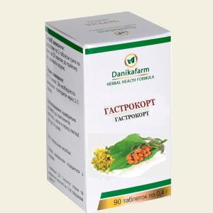 Гастрокорт для профилактики нарушений пищеварительных функций, для роста нормальной здоровой микрофлоры кишечника, при гастритах, изжоге, тошноте