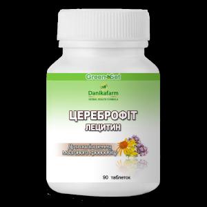 Цереброфит-Лецитин для улучшения памяти и мозгового кровообращения, защиты от инсульта, препятствования образования тромбов, при мигренях