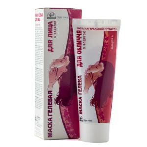 Маску гелевую для лица с бадягой сужающую поры, улучшающее состояние кожи лица, отшелушивающую, для проблемной кожи