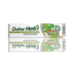 зубная паста травяная аюрведа Dabur на основе Ним для укрепления эмали и против воспаления десен