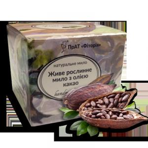 мыло ручной работы Фитория с маслом какао-бобов на основе фитора (экстракт дуба) с антибактериальным ранозаживляющим эффектом в подарочной упаковке