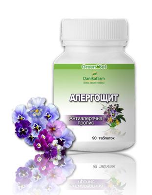 Аллергощит- противоаллергическая пропись для снижения риска аллергических заболеваний, нормализации обмена веществ, при экземах, дерматитах, конъюктивитах
