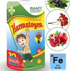 Гель пищевой HAEMATOGEN как источник полноценного белка, жиров и углеводов, для поднятия гемоглобина, улучшения обмена веществ, зрения и пищеварения