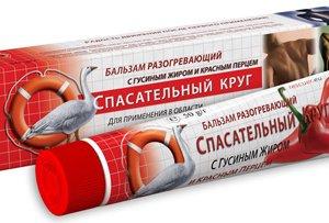 Разогревающий бальзам с гусиным жиром и красным перцем для длительного и глубокого разогревающего эффекта, при ревматических состояниях, при болях в суставах