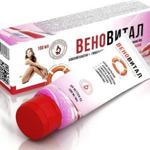 крем-бальзам Веновитал для борьбы с капиллярной сеткой и снятия чувства усталости на конском каштане и троксерутине