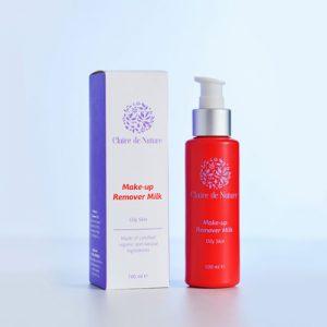 натуральное молочко для снятия макияжа жирная кожа лица TM Clair на основе листьев больдо и масло абрикоса