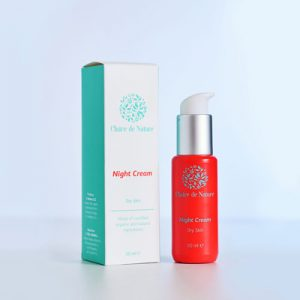 крем для лица ночной для сухой кожи на основе гиалуроновой кислоты араганового масла серии Clair для длительного удержания влаги в коже
