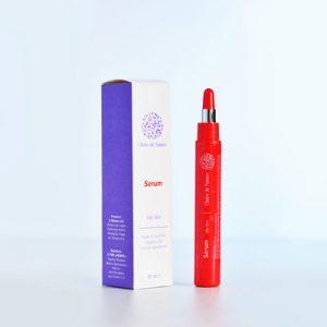 сыворотка (серум) для жирной кожи лица ТМ Clear на основе примулы вечерней и экстрактов листьев больдо