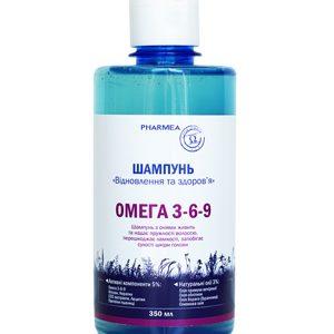 шампунь Восстановление и здоровье волос с омегой 3-6-9 на основе натуральных масел примулы, облепихи, оливкового TM Pharmea