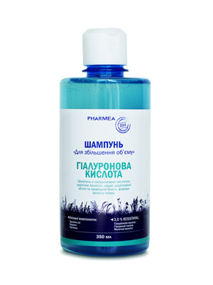 шампунь с гиалуроновой кислотой Для увеличения объема волос , создает эффект летящего волоса, TM Pharmea