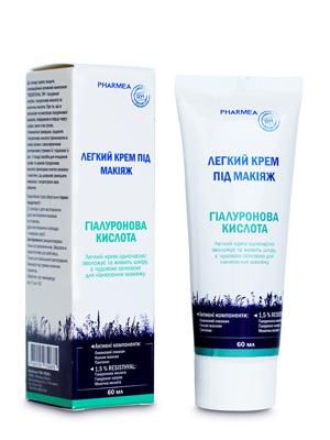 легкий крем под макияж Гиалуроновая кислота TM Pharmea для увлажнения кожи лица и основы под макияж