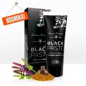 Black PASTE (черная паста) на базе активированного угля, шалфея и прополиса с отбеливающим эффектом