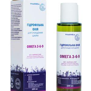 гидрофильное масло для очищения кожи и снятия макияж на основе омега