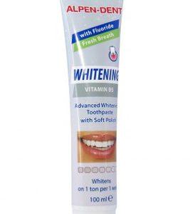 зубная паста от налета и зубного камня отбеливающую альпен дент