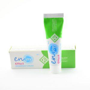 эко Крем-Дезодорант Enjoy для людей, которые имею аллергию. Устранение запаха пота без закупоривания потовых желез. Дезодорант не содержит спирта, алюминия и свинца