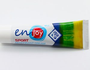 эко Крем-Дезодорант Enjoy Sport. Устранение запаха пота без закупоривания потовых желез. Дезодорант не содержит спирта, алюминия и свинца