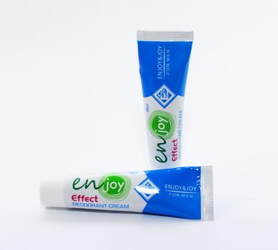 эко Крем-Дезодорант Enjoy для мужчин для устранения запаха пота без закупоривания потовых желез. Дезодорант не содержит спирта, алюминия и свинца