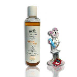натуральный шампунь без парабенов на основе Крапивы и лопуха для укрепления всех типов волос