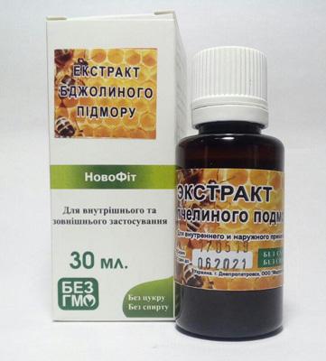 экстракт пчелиного подмора как обширного вздействия на организма как адаптоген, для повышеня иммунитета, мощного антисептического и противосклеротического действия