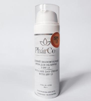 Крем увлажняющий дневной гиалуроновая кислота PharCos 25+ для эффективного увлажнения и защиты кожи спф15, обогащен витамин и жирными кислотами