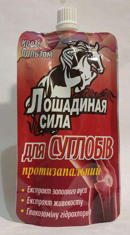 крем-бальзам для суставов лошадиная сила на основе золотого уса, живокоста и глюкозамина в комплексной помощи при дегеративно-дистрофичных и воспалительных процессах